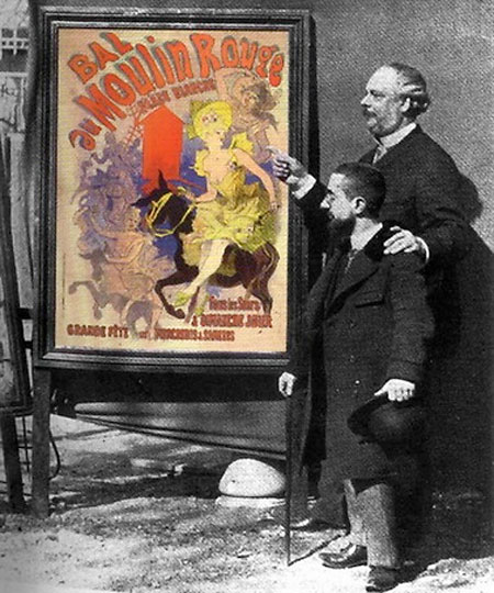 Jules Chéret and Toulouse- Lautrec (with cane), ca. 1894