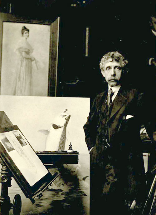 Louis John Rhead in his studio circa 1920