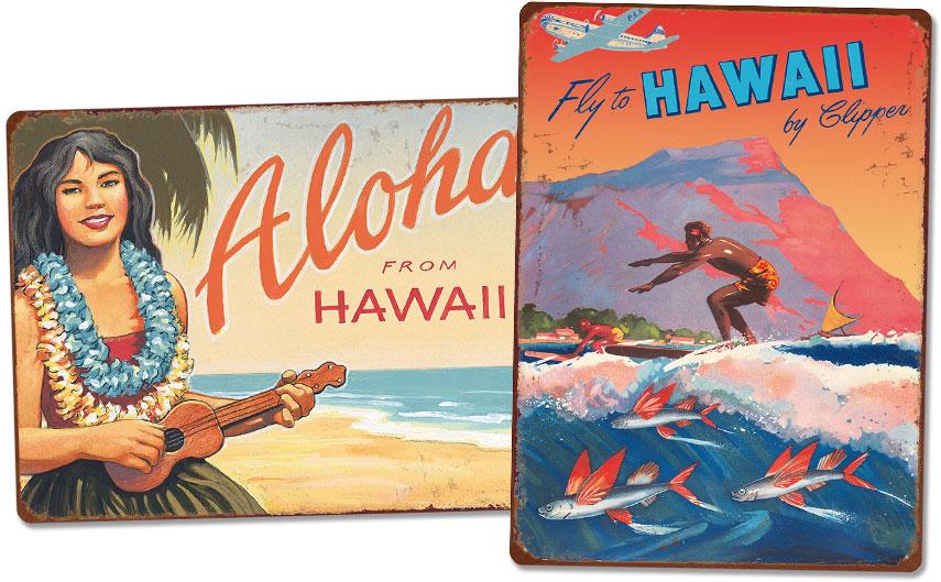 Hawaiian Vintage Metal Signs