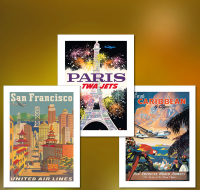Hawaii Unuted Air Lines Vintage Travel Poster old wall art re print classic