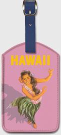 Hawaii - Hula Dancer - Hawaiian Leatherette Luggage Tags