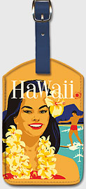Delta Airlines Hawaii - Hawaiian Leatherette Luggage Tags