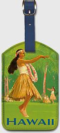 Royal Hawaiian Hula - Hawaiian Leatherette Luggage Tags