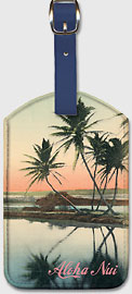 Aloha Nui - Coconut Lagoon - Hawaiian Leatherette Luggage Tags