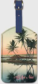Aloha Nui - Coconut Lagoon - Hawaiian Leatherette Luggage Tags