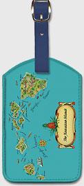 The Hawaiian Islands - Hawaiian Leatherette Luggage Tags