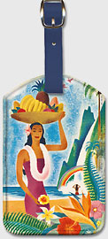 Hawaii Paradise Island - Hawaiian Leatherette Luggage Tags