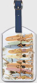 Hawaiian Surfer Girls - Hawaiian Leatherette Luggage Tags