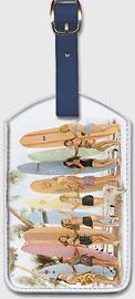 Hawaiian Surfer Girls - Hawaiian Leatherette Luggage Tags