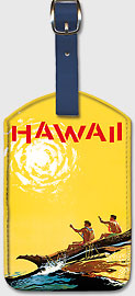 Hawaii TIA - Hawaiian Leatherette Luggage Tags