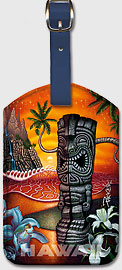 Secret Cove - Hawaiian Leatherette Luggage Tags
