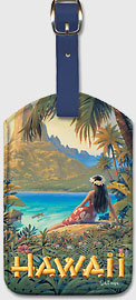 Hawaii - Hawaiian Leatherette Luggage Tags