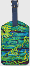 Bamboo Forest - Hawaiian Leatherette Luggage Tags