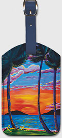 Majestic Maui Moment - Hawaiian Leatherette Luggage Tags