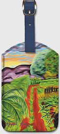 The Papaya Farm - Hawaiian Leatherette Luggage Tags