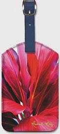 Ti Leaf 3 - Hawaiian Leatherette Luggage Tags