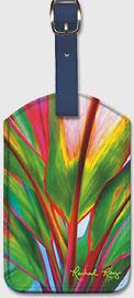 Ti Leaf 4 - Hawaiian Leatherette Luggage Tags