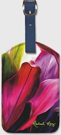 Ti Leaf Bouquet - Hawaiian Leatherette Luggage Tags