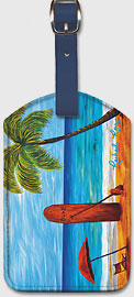 Umbrella Day - Hawaiian Leatherette Luggage Tags