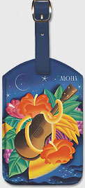 The Essence Of Aloha - Hawaiian Leatherette Luggage Tags