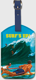 Surf's Up - Waimea, Hawaii - Hawaiian Leatherette Luggage Tags