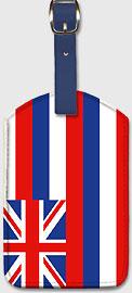 Hawaiian Flag - Hawaiian Leatherette Luggage Tags