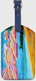 Paia Bay Sunrise - Hawaiian Leatherette Luggage Tags