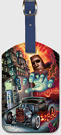 Faster than Disaster - Hawaiian Leatherette Luggage Tags