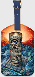 Kon Tiki Dream - Hawaiian Leatherette Luggage Tags