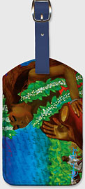 Legend of the Taro - Hawaiian Leatherette Luggage Tags