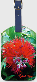 Liko Lehua - Hawaiian Leatherette Luggage Tags