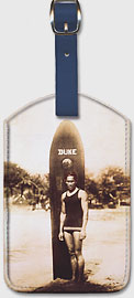 Young Duke Kahanamoku, Honolulu, Hawaii - Hawaiian Leatherette Luggage Tags