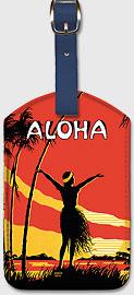 Aloha OE - Hawaiian Leatherette Luggage Tags