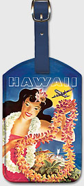 United Air Lei - Hawaiian Leatherette Luggage Tags