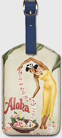 The Leimaker - Hawaiian Leatherette Luggage Tags