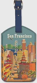 San Francisco City - Leatherette Luggage Tags