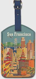 San Francisco City - Leatherette Luggage Tags