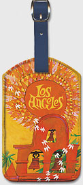 Fly TWA Los Angeles, Sun - Leatherette Luggage Tags