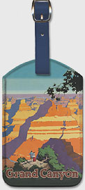Santa Fe Railroad, Grand Canyon National Park, Arizona - Leatherette Luggage Tags