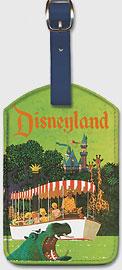 United Airlines Disneyland, Anaheim, California - Leatherette Luggage Tags