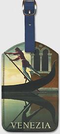 Venezia, Gondolier in Renaissance, Venice, Italy - Leatherette Luggage Tags
