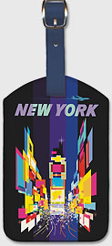 New York Times Square - Leatherette Luggage Tags
