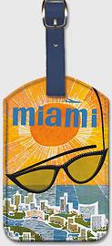 Miami TWA - Sunglasses - Leatherette Luggage Tags