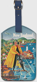 United Airlines - New England Fisherman - Leatherette Luggage Tags