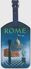 Pan American: Rome by Clipper - Vatican and Coliseum - Leatherette Luggage Tags