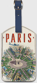 Pan American: Paris by Clipper Arch of Triumph - Leatherette Luggage Tags
