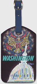 Trans World Airlines: Washington - Fly TWA Jets - Leatherette Luggage Tags