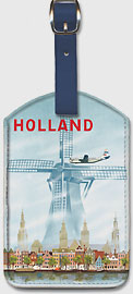 Pan American: Holland Windmill - Leatherette Luggage Tags