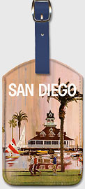 San Diego - Leatherette Luggage Tags