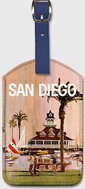 San Diego - Leatherette Luggage Tags